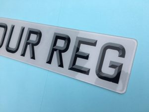 3d font numberplate