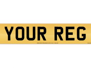 legal number plate