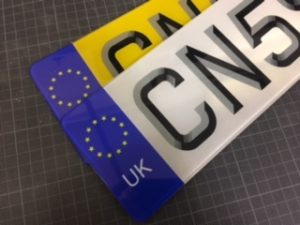 Front And Back 3d Number Plates Preston