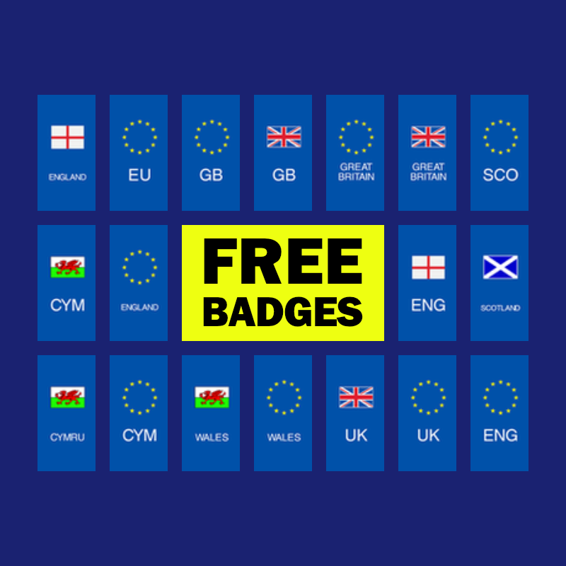 Free Badges On Replacement Numberplates