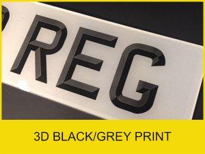 3D Black / Grey Print